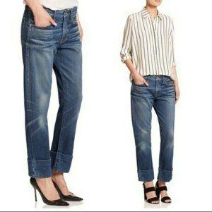 FRAME Le Grand Garcon Boyfriend Cropped Jeans
